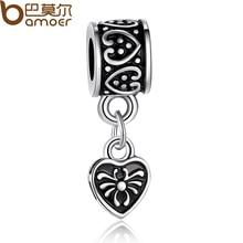 Authentic 925 Tibetan Silver Heart Pendant Charm Fit Pandora Bracelet Necklace Original Jewelry Accessories PA5029