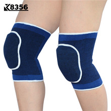 K8356 1 Pair Sponge Knee Pads Volleyball Dance Badminton Breathable Knee Support Sports Safety Fitness Protection Kneepad Blue
