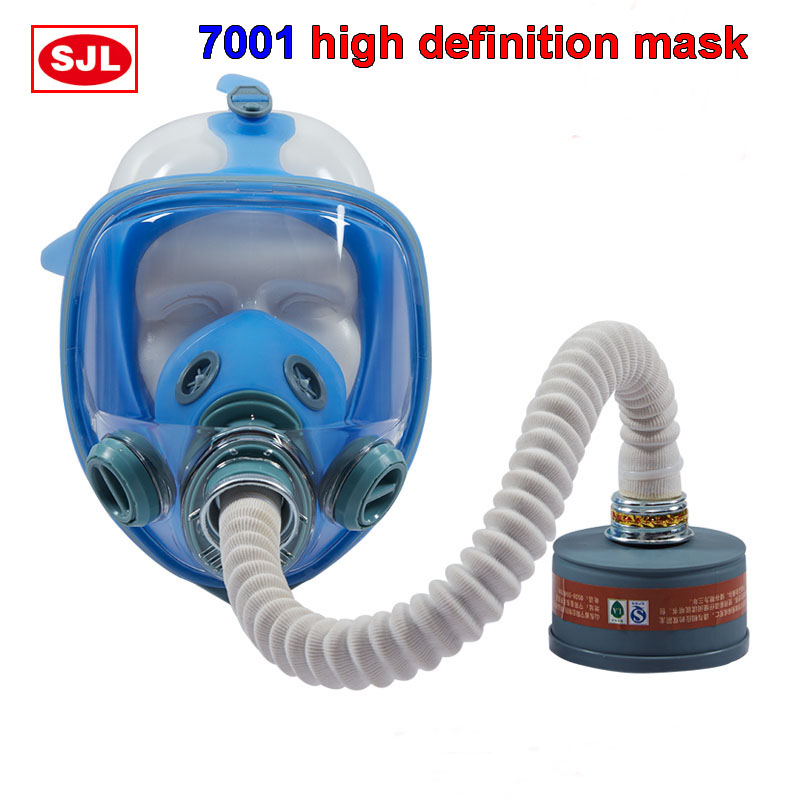 High Definition Breathing Full Mask Various Combined  Protective Mask Against Spray Paint Pesticide Three Interface Gas Mask