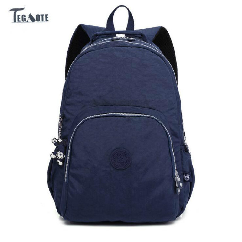 HOT! TEGAOTE 2017 new boy Backpack for Teenage Girls Feminine Backpack Casual Kipled Nylon Backpacks Women Bagpack Sac A Dos bag fashion vintage backpack women youth school shoulder bag male nylon backpacks for teenager girls feminine backpack sac a dos