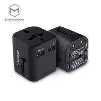 Mcdodo International Travel Power Adapter com Plugues De Tomada de Parede 2.4A Dual USB Charger & AC Em Todo O Mundo para o REINO UNIDO, NÓS, AU, europa