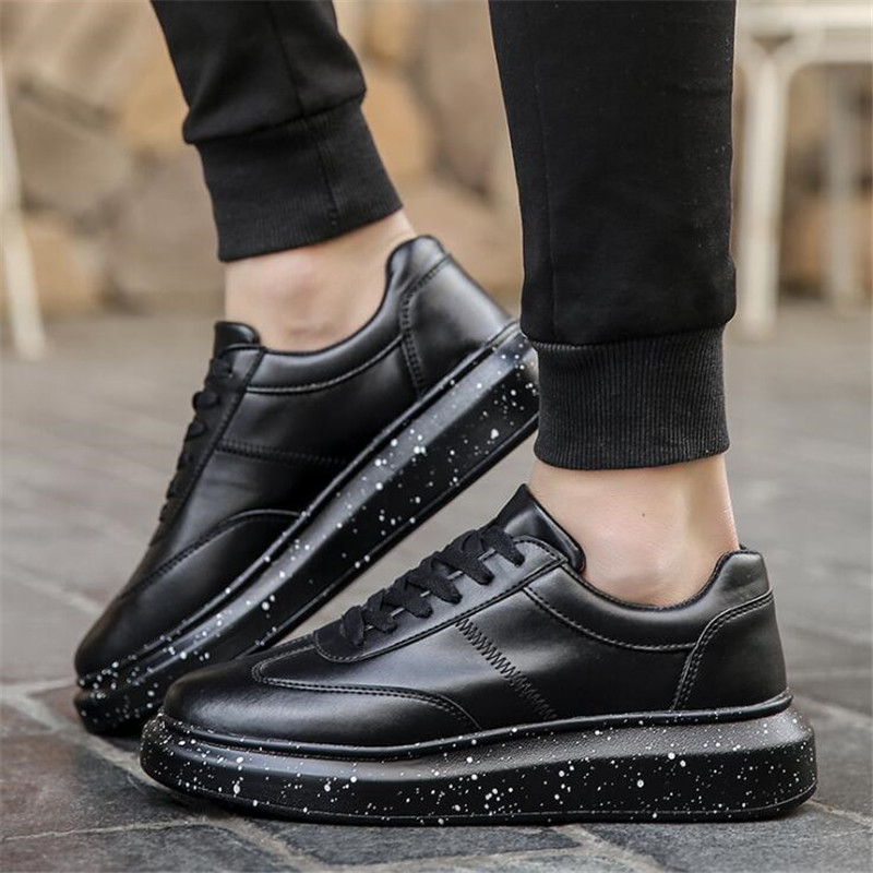 the best attitude b5b20 91982 Platform Sneakers Men Running shoes Black White Outdoor Sport Shoes Leather  Trainers Lovers Size 36 44 Girls Boy Tennis Sneakeer-in Running Shoes from  ...
