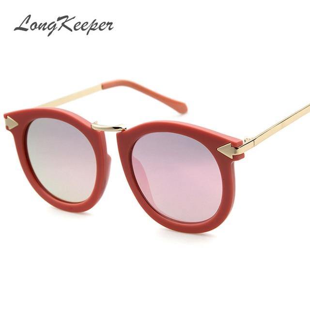 7095bbe7274 LongKeeper Candy Color Film Sunglass Men Women 2017 Vintage Sunglasses  Women Brand Designer Retro Sun Glasses