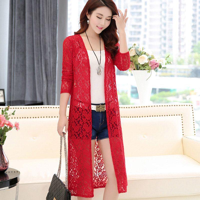 Chiffon Floral Long Cardigan Shawl Tops Women's Shirt Summer Women Casual Vintage Blouse