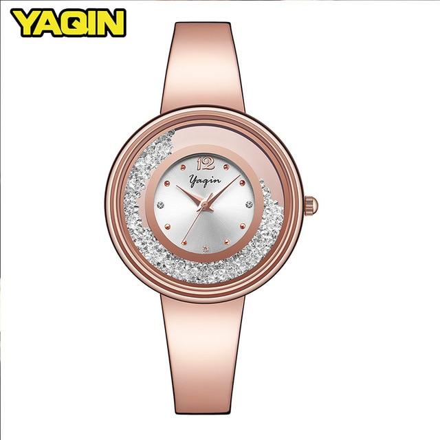 Nieuwe mode hoge kwaliteit luxe merk YAQIN vrouwen horloge roestvrij - Dameshorloges - Foto 1