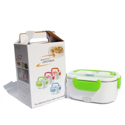 Dual Use Home Car Mini Lunch Box Heating Food Container Heat Preservation for Home Office Travel 110V/220V 12V EU US Plug 1.2L reheating automatic heated food containers mini lunch box multifunction food box heat preservation