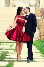 2016 frauen Charming Appliques Ballkleid Evning Formales Abschlussballkleid Lang Sleeves Reizvolle Backless Abendgesellschaft Kleid Freies Verschiffen