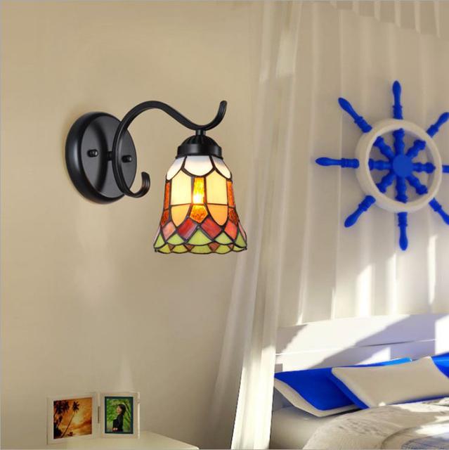 Retro Flower Style Bedroom Wall Lamp