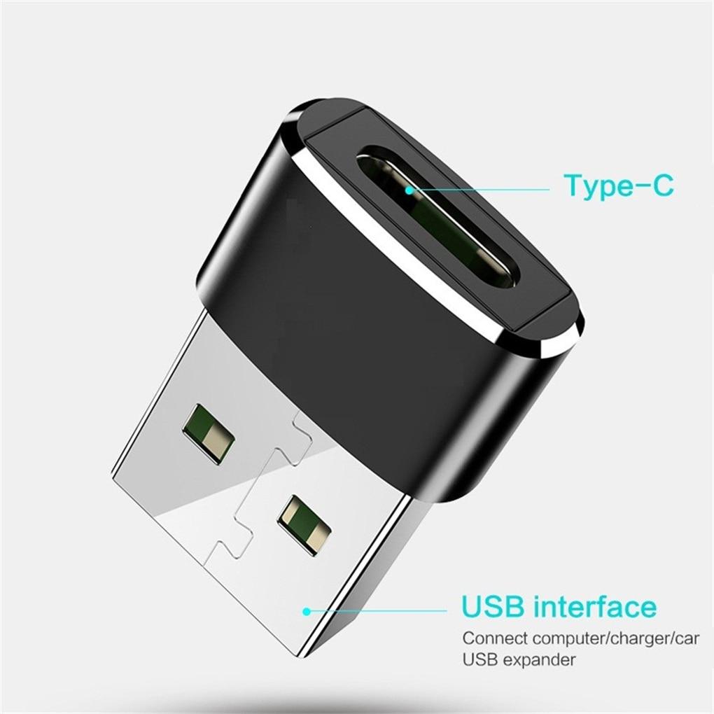 USB Male To Type-c Female Mini Adapter Laptop USB-a Plug To USB-c Port Portable Converter