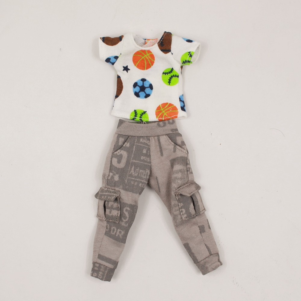 Neo Blythe Doll Shirt With Casual Pants & Rompers Suit 8
