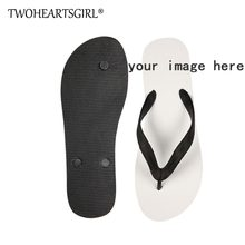 bf06ee39e9899 Twoheartsgirl Cool Customized Pattern Men Flip Flops Soft Summer Beach  Rubber Flipflops Unique Men Home Slippers Flat Man Shoes