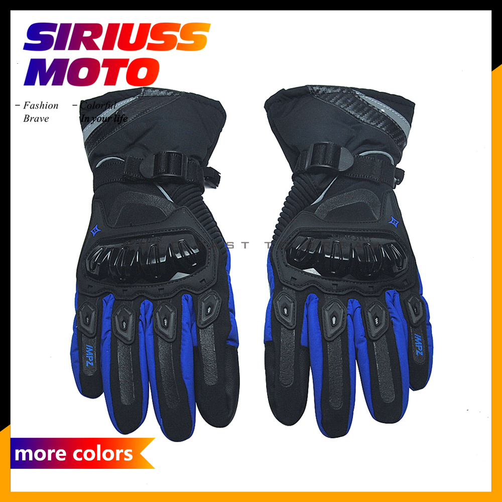 Mens Motorcycle Racing Glove Motocross Full Finger Sports Cycling Equipment Joint Protective Leather Breathable Gloves