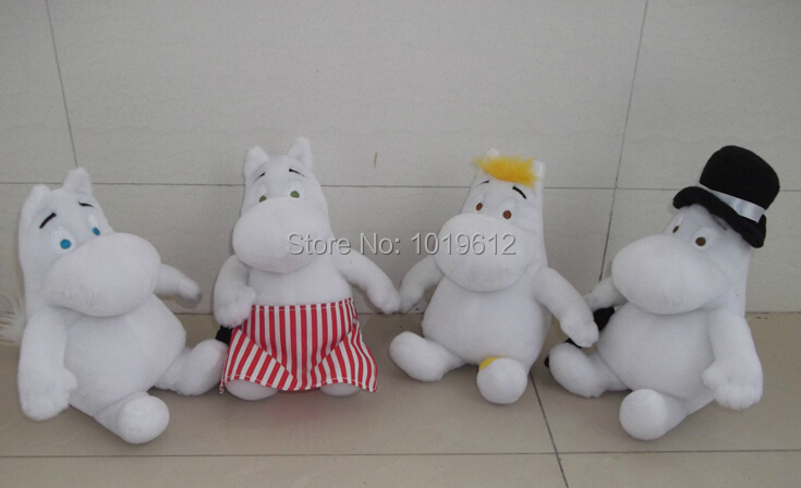 20cm Hot sale ! soft Free shipping Christmas gift Moomin plush toy Moomin valley soft gift Moomin hippo doll 4pcs/set the huge lovely hippo toy plush doll cartoon hippo doll gift toy about 160cm pink