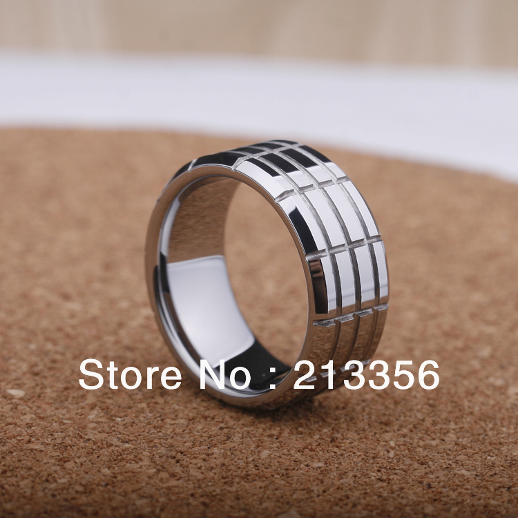 Free Shipping Buy Cheap Price Jewelry USA Brazil Russia HOT Selling 8MM Men&Womens Silver Grooved Classic Tungsten Wedding Ring