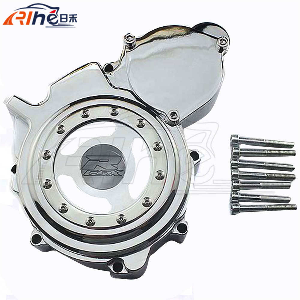 new motorcycle chrome engine stator cover motorbike engine stator cover For SUZUKI GSXR600 750 K6 K8 2006 2007 2008 2009 2010 aftermarket free shipping motorcycle part engine stator cover for suzuki gsxr600 750 2006 2007 2008 2009 2013 black left side