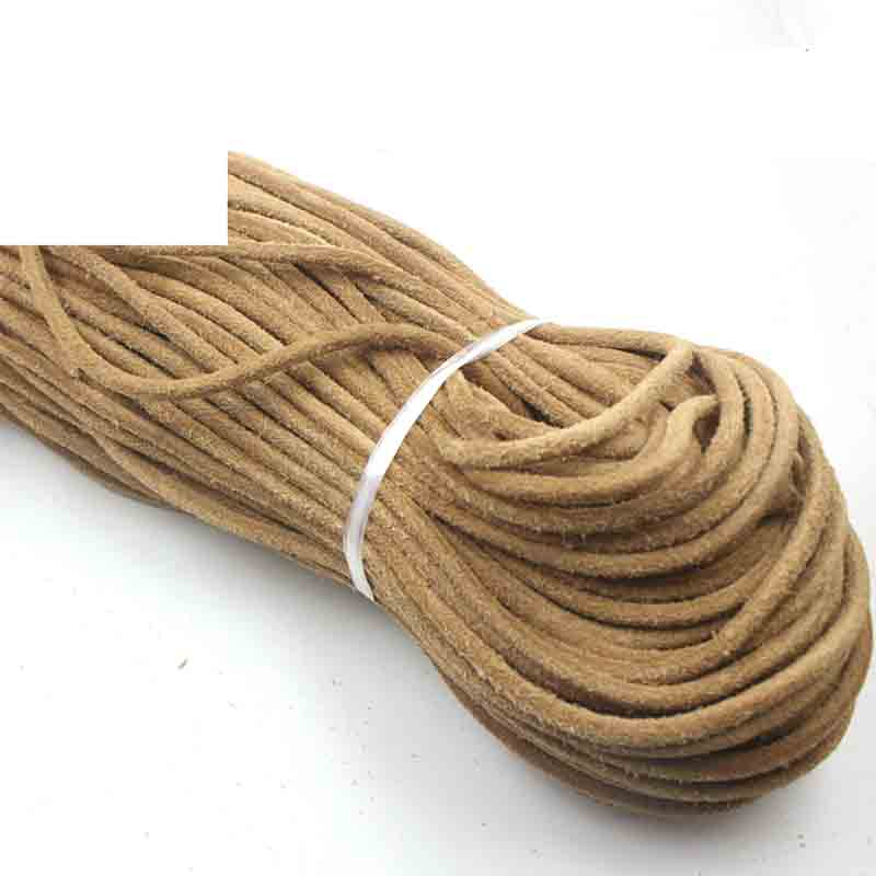 2 Meters Handcraft Frosted Genuine Leather Cords 1.5 2 3 4 5 6 8mm Round Necklace Bracelets Thread Rope DIY Jewelry Making