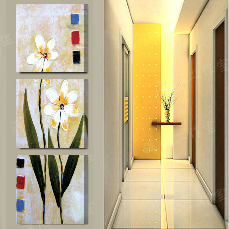 unidsset abstracta impreso vertical pintura flores de margarita pintura foto decoracin del hogar