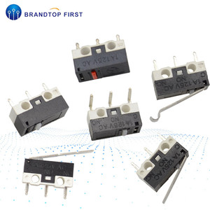 5Pcs Mini Micro Limit Switch 3 Pins PCB Terminals Roller Arc lever Snap Action Push Microswitches