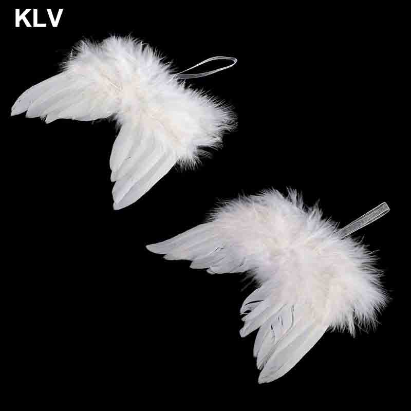 Newborn Baby Boy Girl White Angel Wings Photo Props Cute Photography Accessories Ornaments