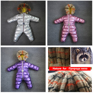 Image 4 - Orangemom 子供のジャンプスーツ女の子の冬のブランドジャケット服、厚み幼児ガールコート幼児防寒着