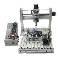 Mini fresadora de metal de grabado cnc DIY 3040 enrutador de madera con pinza de corte kits de perforación de abrazadera