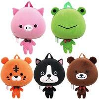 لطيف 3d الكرتون الحيوان حقيبة أطفال الأطفال الحقائب المدرسية الكتف الضفدع ، الدب ، الكلب ، خنزير ، النمر المدرسية للأطفال