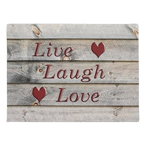 Ailovyo Live Laugh Love On The Side Of A Barn Non-Slip Entry Way Outdoor Indoor Decor Rug Doormats