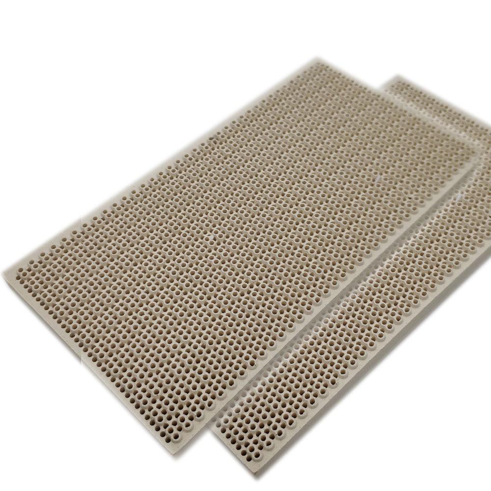 MENSI Propane LPG Gas Heating Appliance Burner Parts Honeycomb Ceramic Plate 145*75*14mm High Burning Effeciency 3PCS