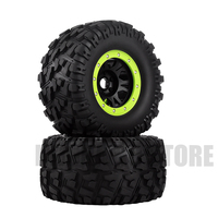 2PCS Plastic Rim&Rubber Wheel Tires 17MM Hex for 1/8 RC Rock Crawler Traxxas HPI LOSI HSP RC Car Parts