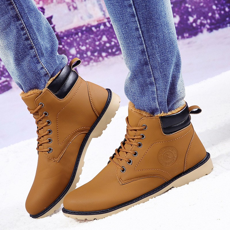 YWEEN Men Leather Boots Autumn Winter High Style Waterproof Fashion Outdoor Work Shoes Casual Martin Boot For Man Hot Sale 40