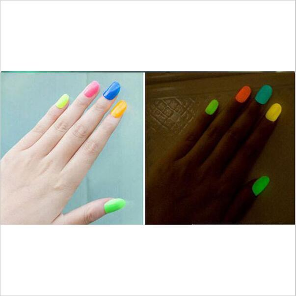 Hotsell New Hotsell 19 Candy Colors Glow The Dark Luminous Fluorescent Nail Art Polish Enamel Free Shipping Beauty