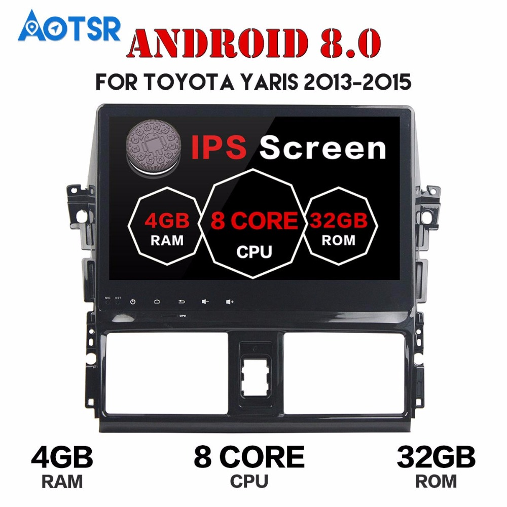 4G wifi <font><b>10.2</b></font> inch <font><b>Android</b></font> <font><b>8.0</b></font> Octa Core <font><b>Car</b></font> DVD Player For Toyota VIOS /YARI L 2013-2015 2GB RAM+32GB ROM GPS Navi Radio <font><b>Stereo</b></font> image