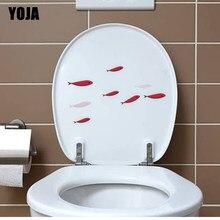 YOJA 23.3*13.9 CM UM Bando De Pequenos Peixes Banheiro Adesivo de Parede Decalque Sala de estar Home Decor T3-0757