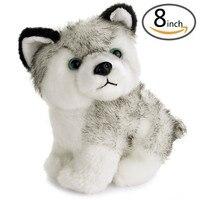 Freies Verschiffen 8 zoll Schöne Plüschhund Siberian Husky Weiche Stofftier Welpen Spielzeug Puppen Für Kinder # SS