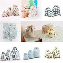1PC Mix 3 Size Linen Hessian Jute Drawstring Bags Cookie Candy Packing Baby Shower Bags Birthday Wedding Party Supplies Favor