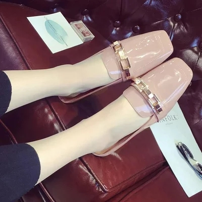 New Genuine Leather Women Mules Shoes Square Toe Strange Style Sewing Footwear Brand Summer Casual High Heels Ladies Pumps.