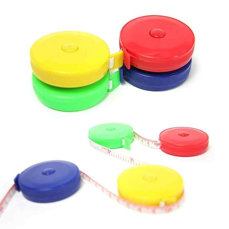 150 سنتيمتر أشرطة القياس الصغيرة قياس قابل للسحب متري حزام الملونة المحمولة حاكم سنتيمتر بوصة الخياطة اكسسوارات