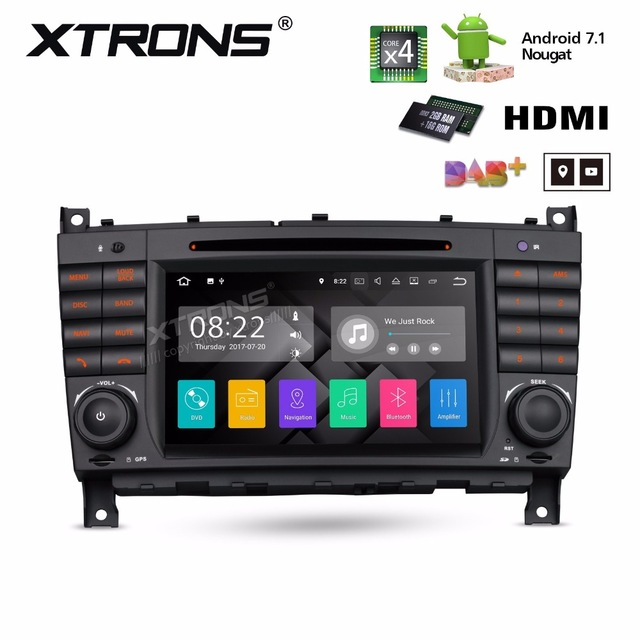XTRONS 2 Din 7 HD Android 7.1 Radio GPS HDMI Car DVD Player for Mercedes Benz W209 W203 C180 C200 C220 C230 C240 C250 C270 W463 image