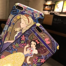 Kerzzil Snow White Mermaid Cute Case For iPhone7 6 6s Plus 3D Reduction Cartoon Laborious PC Cellphone Again Cowl Case For iPhone X 6 eight  6S