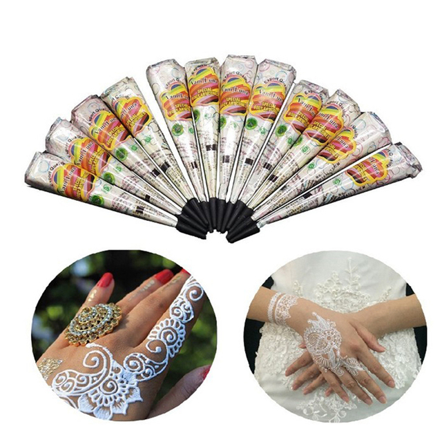 New Indian Tattoo Henna Paste Cone For Body Art Drawing Temporary