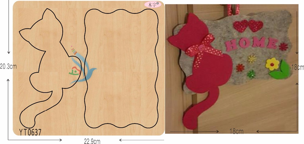 Cute kitten 1 DIY new wooden mould cutting dies for scrapbooking Thickness 15 8mm YT0637