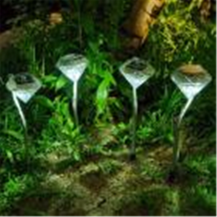 2018 Diamond shapes LED Solar Light party Pathway Landscape Ground Mount Lamp Garden Lamp Fence Solar Lamp LED Light #0527