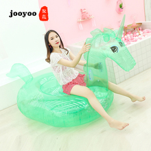 New Sequins Transparent Unicorn Floating Raw Drainage Bed Adult High Quality Swimming PVC Inflatable Row