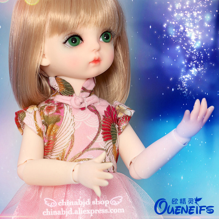 OUENEIFS Free Shipping Ivy 1/6 BJD SD Doll Model Baby Girls Boys Eyes High Quality Toys Resin Figures