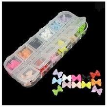12 Colores Mezclados 60 Unids/caja Decoración Del Clavo Para El Gel ULTRAVIOLETA de Acrílico Del Arte Del Clavo del teléfono y el ordenador portátil DIY Accesorios 12 rejillas