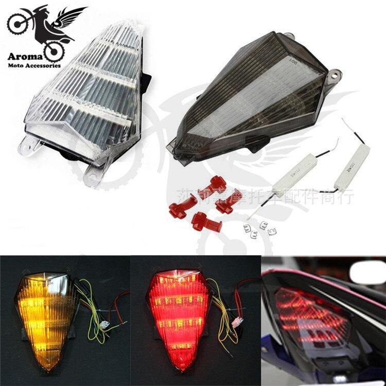 brand original moto indicator flashers blinker rear motorbike tail light for yamaha YZF R6 2006 2007 LED motorcycle brake light