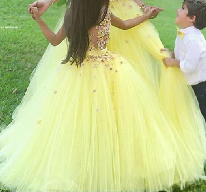 Buy Flower yellow girl dresses cheap pictures trends