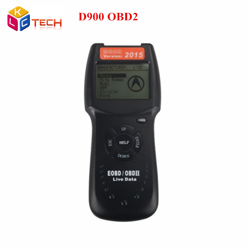 Newest Arrive D900 Canscan  D900 Scanner Universal OBD2 EOBD Car Fault Code Reader D 900 Diagnostic Tool 2015 Version