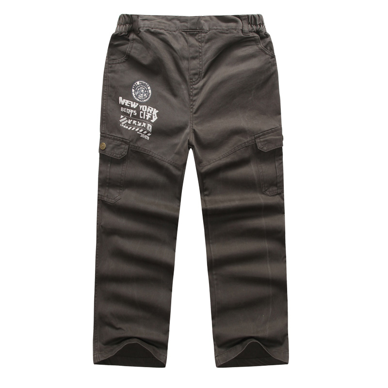 2018 Spring and Autumn Boy Casual Trousers Child 100% Cotton Straight Children's Clothing Trousers Pants for Boy Kids 2017 new autumn men straight denim jeans trousers plus size high quality soft casual cotton clothing man board pants luyzjzen f6