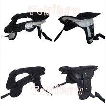 Фиксатор шеи мотоцикла поддерживает светильник защита от веса мотокросса защита шеи взрослые лыжные коньки шейные фиксаторы-белый, черный